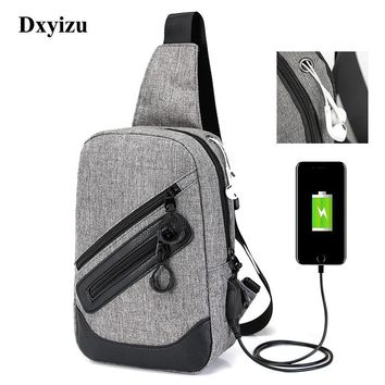 Leisure Casual Men Chest Bags Pack Theftproof Daily Crossbody Bag Male Business Sling Bag Large Capacity Messenger Bag Shoulder
