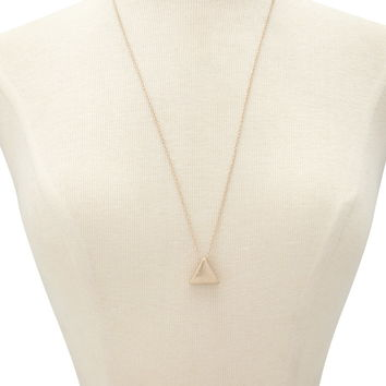 Cutout Triangle Pendant Necklace