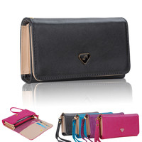 Envelope Leather Clutch Wrist Wallet