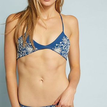 Rove Swimwear Embroidered Bikini Top