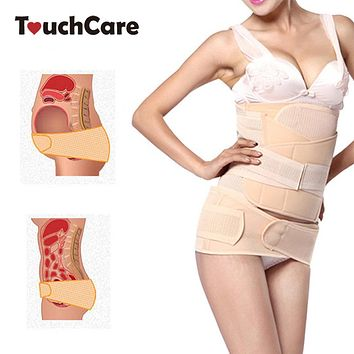 Touchcare 3 Pcs Maternity Postpartum Belly Band Belt Women Abdominal Recovery Bandage Slim Shaping Recovery Corset Serre Ventre