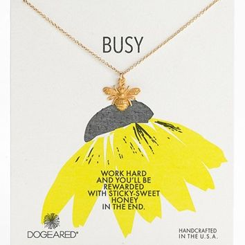 Women's Dogeared 'Busy Bee' Pendant Necklace (Nordstrom Exclusive)