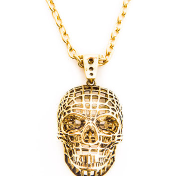 Han Cholo Mesh Skull Necklace