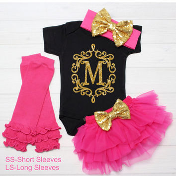 Baby Girl Clothes Monogram Shirt, Customized Shirt Outfit, Baby Name Shirt,  Baby Girl Clothes Baby,  Girl Shirt Baby Gift, Take Home Outfit