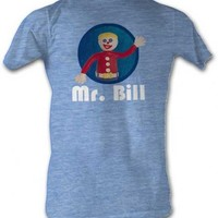 SNL Saturday Night Live Mr. Bill Waving Adult Light Blue T-shirt - Saturday Night Live - | TV Store Online