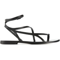 Haider Ackermann Strappy Flat Sandals - Julian Fashion - Farfetch.com