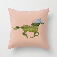 Horse Throw Pillow by ProfileDesign