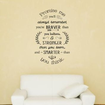 Promise Me You'll Always Remember Wall Decal