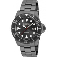 Invicta Men's 90197 Pro Diver Quartz 3 Hand Black Dial Watch