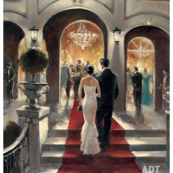 Gala Opening Art Print by Brent Heighton at Art.com