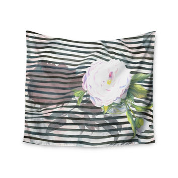 "S. Seema Z ""Peony n White Black"" Wall Tapestry"