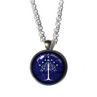 White Tree Of Gondor Necklace - The Crownless Again Shall Be King - Lord of the Rings Jewelry - Elvish Necklace - Lord of the Rings Necklace