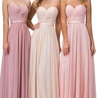 2017 New  Bridesmaid Dresses Cheap Real Photos Custom Formal Gown Stock  Pink Blush Blue Chiffon Wedding Party  Dress D1511124