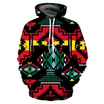 Jamaican Pattern All Over Print Hoodie Sweater