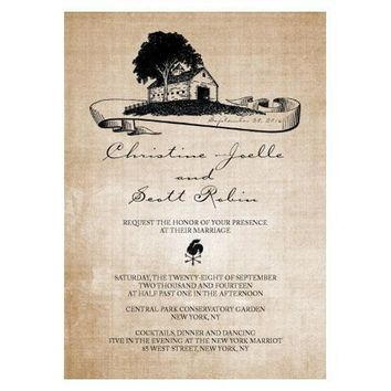 Rustic Country Invitation (Pack of 1)