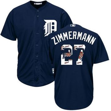 KUYOU Detroit Tigers Jersey - Jordan Zimmermann - Team Logo Fashion Jersey