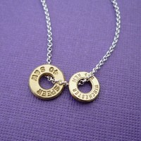 awesome bullet casing top necklace .223 Remington and .40 Smith and Wesson sterling silver chain