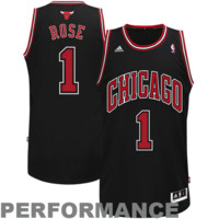 Derrick Rose Chicago Bulls adidas Youth Swingman Alternate Jersey - Black - http://www.shareasale.com/m-pr.cfm?merchantID=7124&userID=1042934&productID=502122111 / Chicago Bulls