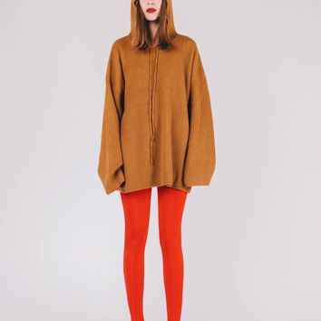 Knitted Oversized Sweater | Camel