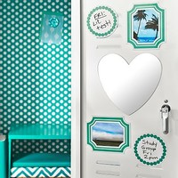 Pool Heart Mirror, Picture Frame Decal Set + Dry Erase Dot Set