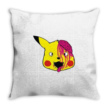 pikachu zombie Throw Pillow