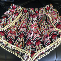 Multi Chevron Pompom shorts