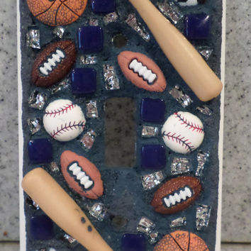 Mosaic Light Switch Cover in Sports Theme (Item # 1541