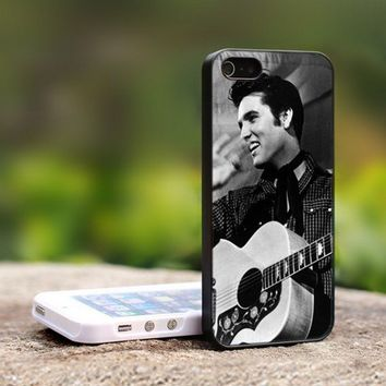 elvis presley smile am - For iPhone 5 Black Case Cover