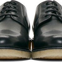Black Leather Crepe Sole Derby