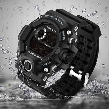 2017 Sanda Digital Watch Men Military G Style Shock Sport Watch Waterproof Electronic Wristwatch Mens Clock Rubber Band Relojes