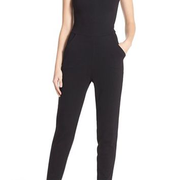 French Connection 'Tania' Mesh Insets Jumpsuit | Nordstrom