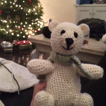 Crochet polar bear