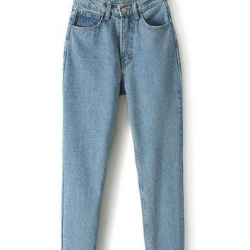 High Waist Boyfriend Denim Haroun Jeans