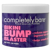 Amazon.com: Bikini Bump Blaster For Ingrown Hairs 50 Pads By Completely Bare