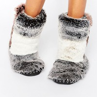 Bedroom Athletics Florence Luxury Fur Slipper Boot at asos.com