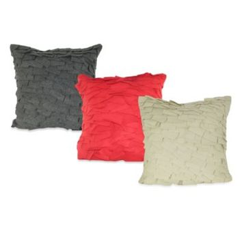 Felt Ruffle Square Throw Pillow