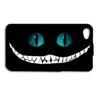 Cheshire Cat Alice in Wonderland Cute Phone Case iPhone Black Cover Movie Book