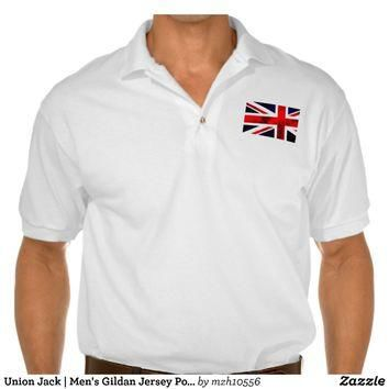Union Jack | Men's Gildan Jersey Polo Shirt Polo Shirts from Zazzle.com