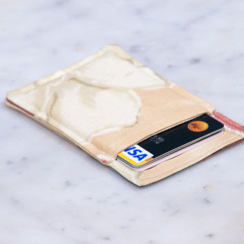 Minimalist wallet - Credit card wallet - Slim business card holder - OOAK - Minimalism - Womens Mens gift - Front pocket wallet