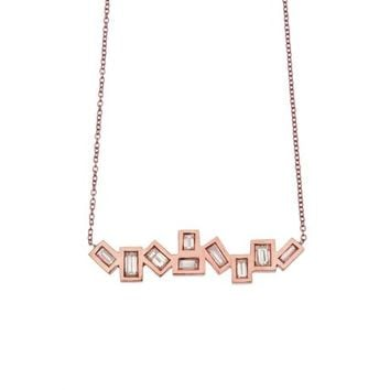 Roseark - Jill Hoffmeister Diamond Baguette Bar Necklace