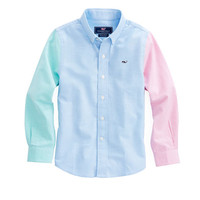 Boys Party Oxford Whale Shirt