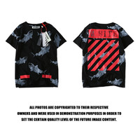 Fashion Men's Fashion Print Short Sleeve Couple Stylish T-shirts [10361246599]