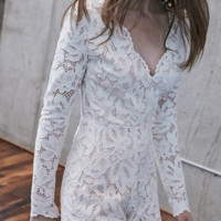Alexis 'Manolo White Lace' Romper | Shop Splash