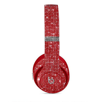 Studio Beats, Custom Beats by Dre, Crystal Beats by Dre, Bling Beats, Bling custom headphones, Beats by Dre Red ,Beats Headphones