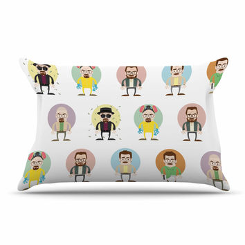 "Juan Paolo ""The Stages of Walter White"" Breaking Bad Pillow Sham"