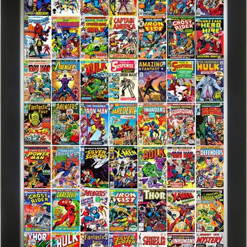 MARVEL CLASSIC COMIC COLLECTION FRAMED ART PRINT