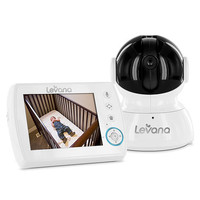 "LEVANA Astra 3.5"" Pan/Tilt/Zoom Digital Baby Video Monitor with Talk to Baby Intercom"
