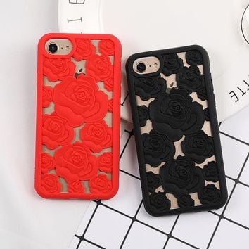3D cutout rose case for iPhone