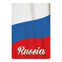 Russia Russia National Flag vintage travel poster