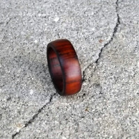 Rustic Men's Wood Ring, Cocobolo Ring, Size 8.5 Men's Ring, Wood Men's Wedding Ring, Men's Wedding Ring, Rustic Men's Ring
